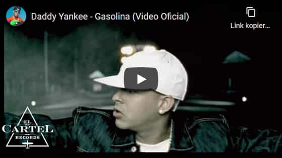Youtube Video, Daddy Yankee, Gasolina, Reggaeton Hits