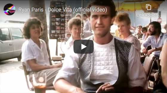 Youtube Video, Ryan Paris, Dolce Vita, Italo Disco Hits